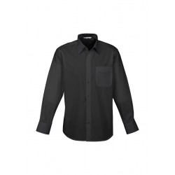 Biz Base Mens Long Sleeve Shirt