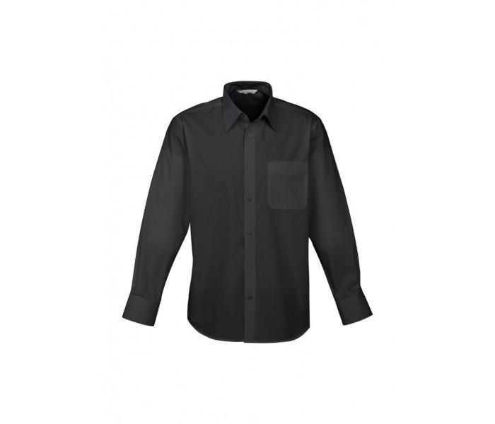 Biz Base Mens Long Sleeve Shirt