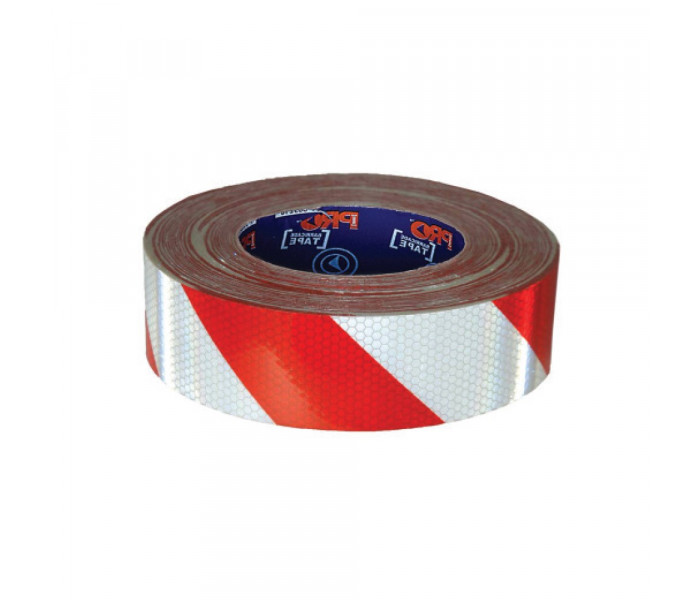 PRO Adhesive Reflective Hazard Tape-50mx50mm
