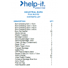 Help-It Industrial Burns First Aid Kit-Wall Mount Box