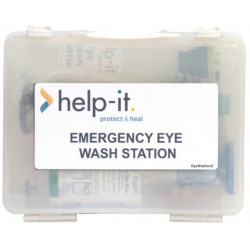 Help-It Emergency Eye Wash Station-Wall Mount Box