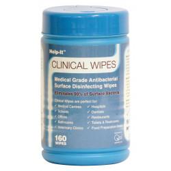 Help-it Antibacterial Wipes-160 Tub