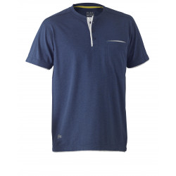 Bisley Flex & Move Henley S/S T-Shirt