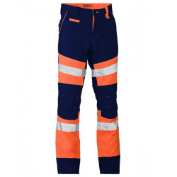 Bisley Contrast Hi-Vis Bio Motion Taped Pants